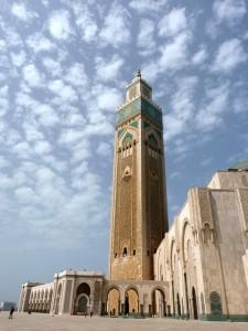 Die beeindruckende Moschee von Casablanca.