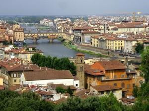 Herrlicher Ausblick über Florenz.