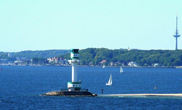 Der Leuchtturm von Kiel.
