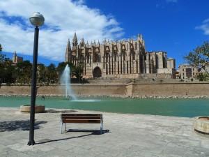 Die Kathedrale von Palma der Mallorca.