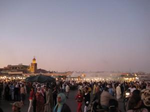 Das Stadtzentrum von Marrakesch.