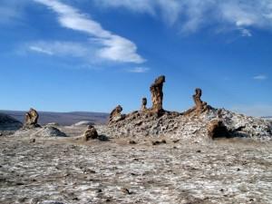 Das Salz der Atacama-Wüste bildet interessante Formen.