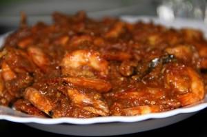 Typisches indisches Gericht: Schrimps mit Curry.