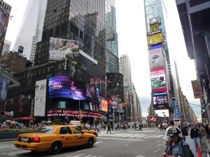 Der Time Square in New York - bekannt aus Film und Fernsehen.