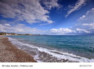 Der Strand von Kefalos.