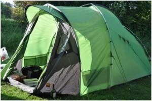 Auf dem Camping-Platz in der Nähe von Cognac.