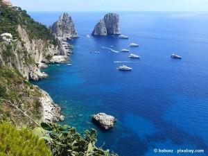 Urlaub auf der schönen Mittelmeerinsel Capri.