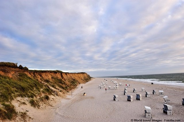 Rotes Kliff in Kampen - Meerblick genießen auf der Ferieninsel Sylt.