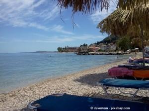 Strand auf Korfu.