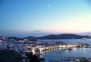 Abendliches Flair auf Mykonos.