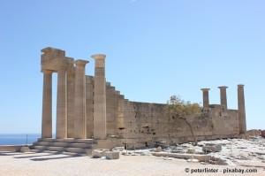 Antike Architektur auf Rhodos.