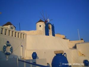 Typische Architektur auf Santorin.