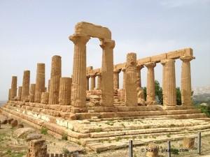 Der Tempel Agrigento Valle Dei Templi auf Sizilien.