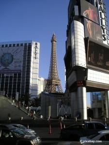 """Der """"Eiffelturm"""" von Las Vegas."""