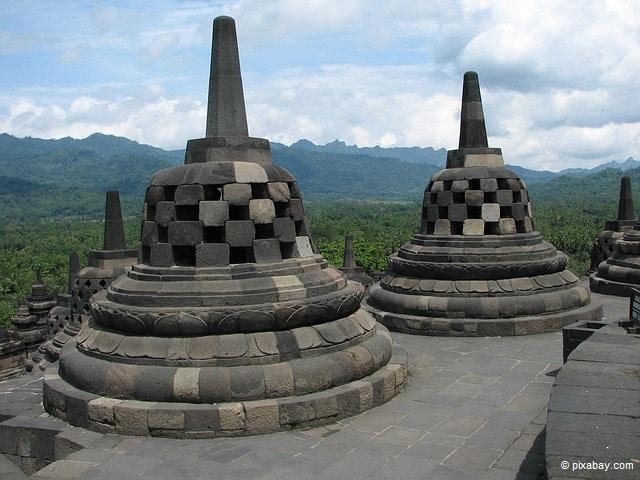 Tempelanlage Borobudur.
