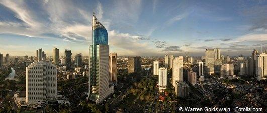 Die Skyline von Jakarta.