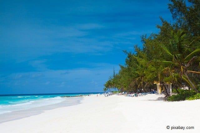 Der Strand von Barbados.