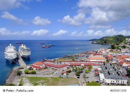 St. George's Harbour in Grenada.