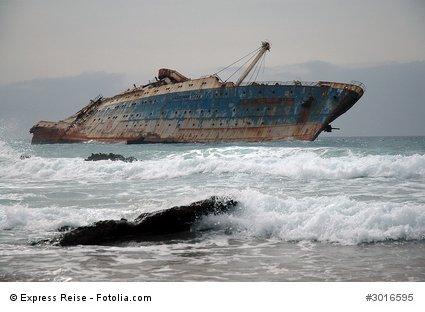 Leider inzwischen im Meer versunken: Das Schiffswrack der American Star.