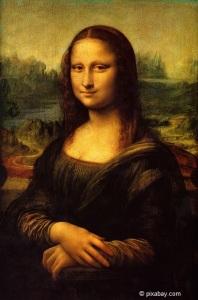 Die Mona Lisa, das vielleicht berühmteste Gemälde der Welt. Gemalt von Leonardo da Vinci.