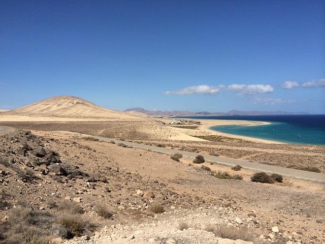 Blick auf Riso del Paso - Traumstand im Süden Fuerteventuras.