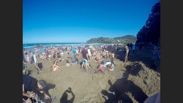 7. Tag: Impressionen vom Hot Water Beach