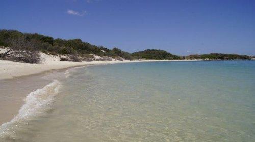 Paradiesischer Strand auf Keppel Island