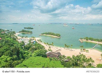 Sentosa - Traumhafte Insel mit Bademöglichkeiten.