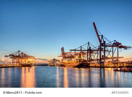 Der Hafen von Singapur.