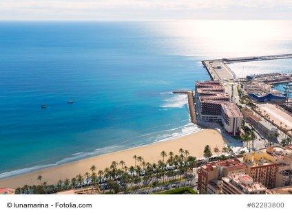 Alicante Postiguet Strand