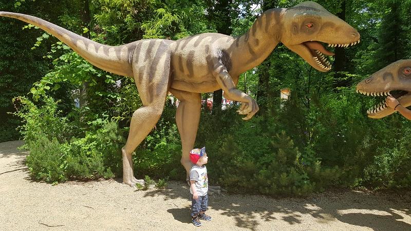 Dinosaurier im Freizeitpark